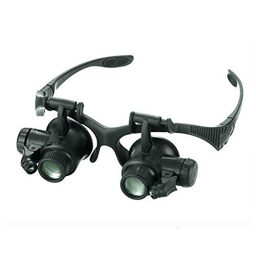 AQWWHY Kopfmontierte Brille Lupe HD Hohe Wartung Uhr Gravur Stickerei Lesen 10X 15X 20X25X Tragbare