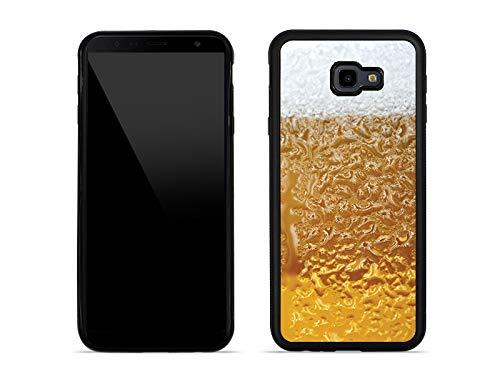 etuo Handyhülle für Samsung Galaxy J4 Plus - Hülle Aluminum Fantastic - Bier mit Schaum - Handyhülle Schutzhülle Etui Case Cover Tasche für Handy