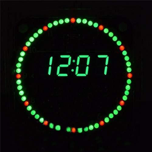 Xiaoqingren Elektronische Uhr DIY Kit Rotation Led Elektronische Uhr DIY Rotierende Led-Anzeige,Grün -