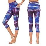 Munvot Yoga Leggings Damen mit Taschen Sporthose Yogahose Tights Fitnesshose Sport Leggings für Damen - Jupiter(3/4)/S (DE36-38)