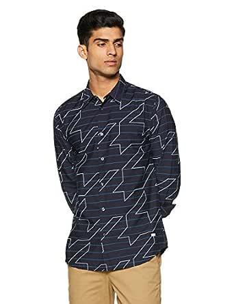 Jack & Jones Men's Printed Slim Fit Casual Shirt