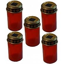 Grablicht Rot-gold Grabkerze Grablaterne Grableuchte 11,5 x 20,0 cm