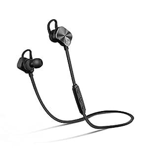 Mpow Auricolari Wireless IPX7 Bluetooth 4.1 Stereo, Cuffie Stereo con Microfono, per iPhone 7/7 plus/6/6 plus/6s/6s plus 5s 5 Samsung Galaxy S6 Edge S5 S4 S3 LG Sony Xiaomi Huawei P9/8 ed altri Smartphone - Nero