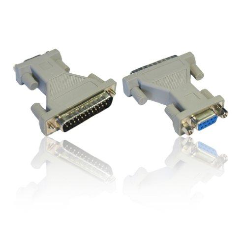 CDL Micro Adapter DB9RS-232Buchse zu DB25 Way 25-polig Stecker - Db25-stecker