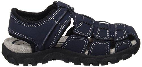 Geox Strada C, Sandales Bout Fermé Garçon Bleu (Navy/Blackc0045)