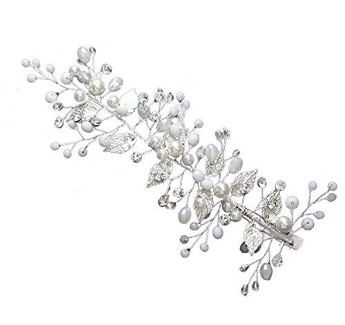 Olici MDRW-Bridal Hochzeit Ballsaal Haarnadel Haarschmuck Braut-Kopfbedeckung Handgemachten Perlen...