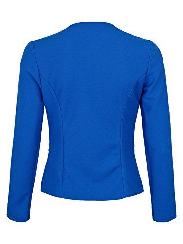 AO 4tuality® Blazer kragenlos mit Zipper Royal Blau