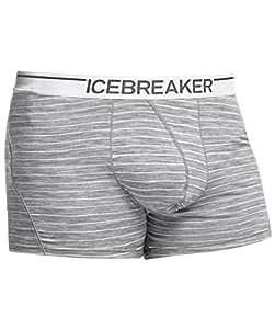 Icebreaker Anatomica Sous-vêtements boxers Stripe, Homme, gris