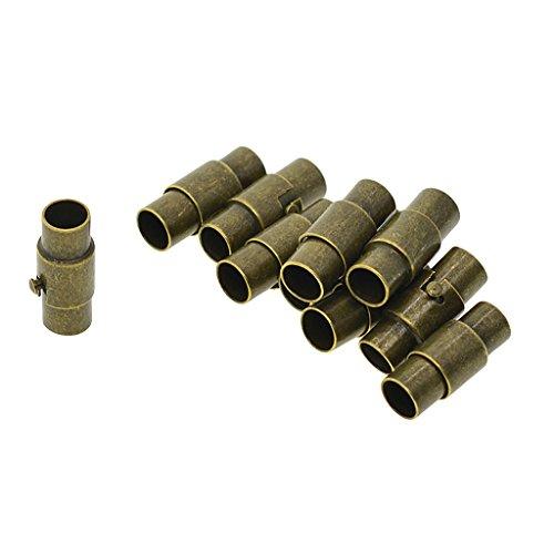 Non-brand 10 Stü Leder Kumihimo Kleber In Tube Magnetic Clasps Connector - Bronze, 4 mm