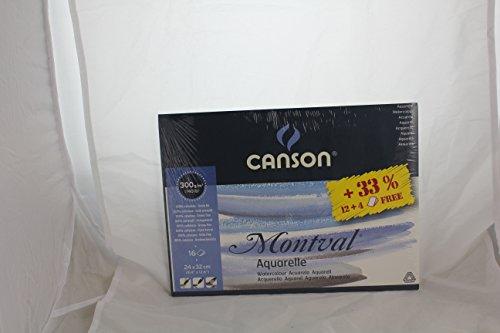 Canson Montval-Papel de acuarela (24cm x 32cm