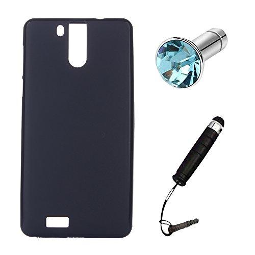 Lusee® Silikon TPU Hülle für Oukitel K6000 Pro 5.5 zoll Schutzhülle Case Cover Protektiv Silicone schwarz