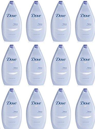12 X DOVE BAGNOSCHIUMA TALCO bagno schiuma doccia schiuma idratante offerta