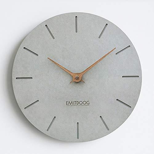 """PANCY Wanduhr ohne Tickgeräusche die Uhr ohne Sekundenzeiger Absolute Ruhe lautlos 12\""""(29cm×29cm), Ideale Wohnaccessiores (Grau3)"""