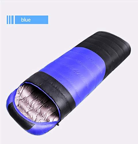 PA® Hiker Saco de Dormir Tipo Momia para Las 4 Estaciones,Compresión,Impermeable,210X80CM,Blue