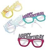Isuper Suministros de Papel Gafas Partido Marcos Fiesta de cumpleaños decoración de la Novedad Foto-Booth Partido Prop favores para los ni 4 Piezas