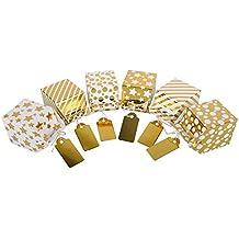ewtshop® Candy de cajas con oro pantalla, Juego de 12, niedliche Cajas de