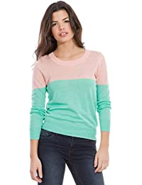 Springfield - Pull-over en lin à col rond - Femme