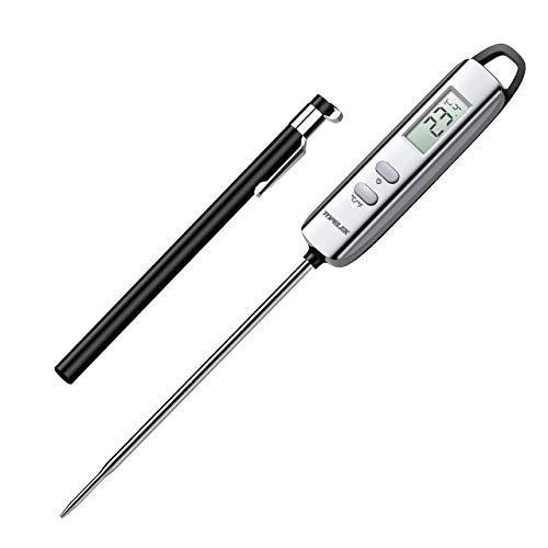 Grillthermometer TOPELEK Fleischthermometer Steakthermometer Küchenthermometer Milchthermometer Kerntemperatur Thermometer Lange Probe, mit 5 Sekunden Instant Read-out für Küche, Grill, BBQ, Essen.