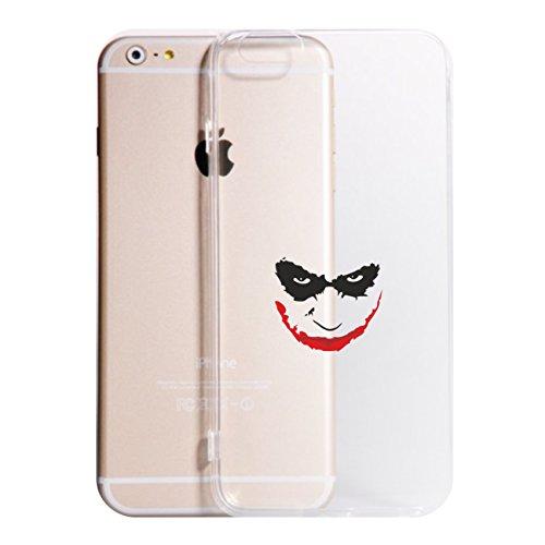 Cover iPhone XS - XR - XS Max - 8-8 Plus - X - 6-6 Plus - 6S - 6S Plus - 7-7 Plus - Joker Modello 4 Trasparente Vari Colori AntiGraffio Antiurto Case Custodia