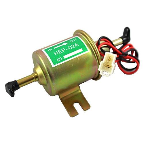 Lispeed - Pompa per Carburante elettrica, Universale, 12 V, autoadescante, Benzina, Olio Diesel, Olio vegetale, Olio, Pompa per Olio