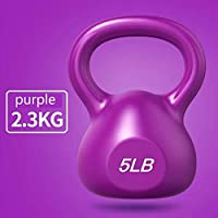Exercise Kettlebell – 4 Sizes Available, 5-20 Pounds Kettlebell Weights Set, Fitness Body Workout Equipment Kettle Bell for Strength And Conditioning,5LB