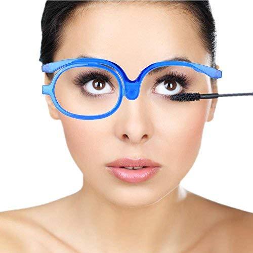 Augen Make up Gläser, Damen Schminkbrille, Make Up Schminkbrille mit klappbaren Brillenglas Lesebrille Flip up Sprossenbrille Unisex drehbar vergrößern Augen Make up Zierbrille Schatten