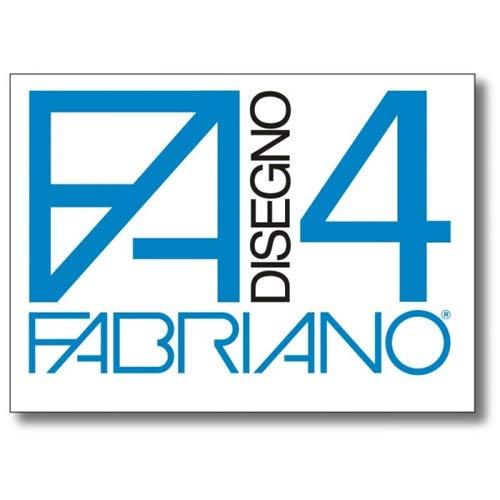 Fabriano 05201797 disegno 4 set 20 fogli, liscio riquadrato, 33 x 48 cm, 220 g/mq