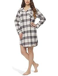 Flanell-Nachthemd für Damen - Moonline