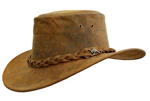 Kakadu Traders Australia - Sombrero Cowboy - para Hombre Tobacco X-Large e4e3354ffe6