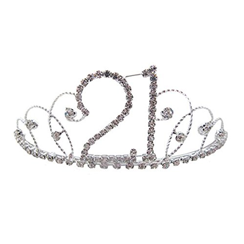 Pick A Gem Hair Accessories Silver Clear Diamante Crystal 21st Birthday Tiara 21st Gift