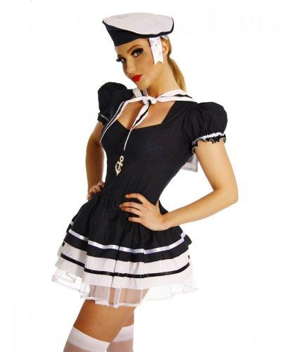 Yourdesignerz Marine-Kostüm Damen blau, Größe (Motto 007 Kostüme)