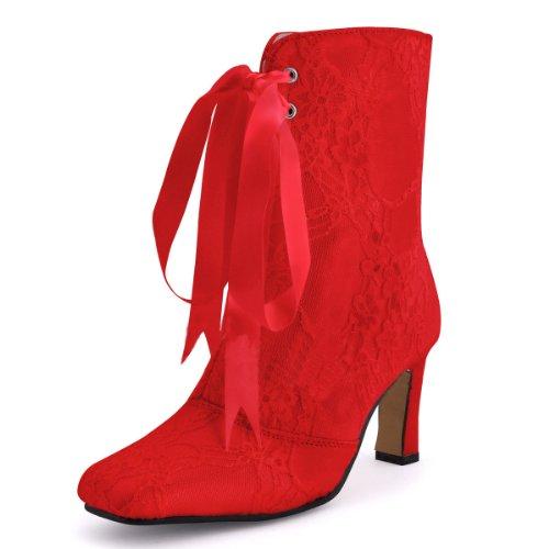 Kevin Fashion ,  Damen Modische Hochzeitsschuhe Rot
