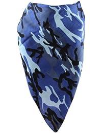 Bandana mit kamouflage Muster in blau