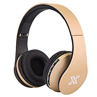 AndThere Bluetooth Wireless Wired Headset Over ear Headphone Stereo Foldable Headphones On Ear Headphone with Microphone For iPhone iPad, iPod, Galaxy Smart Phones, tablet, computer Bluetooth Devices