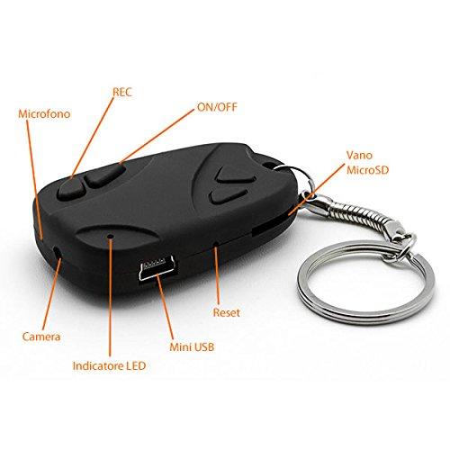 SMARTEX-Espia-Camara-Ocultra-en-Llavero-tarjeta-de-8GB-incluida-Spy-Cam-llavero-de-coches-para-grabaciones-de-video