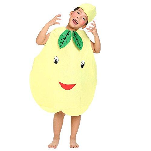 Matissa Früchte Gemüse und Natur Kostüme Anzüge Outfits Kostümfest für Jungen und Mädchen (Birne)