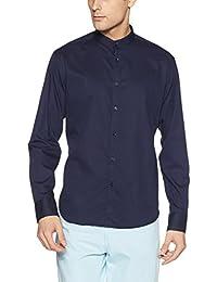 Van Heusen Men's Solid Slim Fit Cotton Casual Shirt - B075QJ14YN