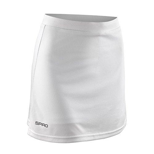 Spiro Damen Sport-Hosenrock / Skort, winddicht (2XLarge) (Weiß)