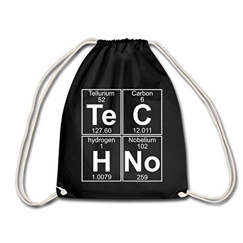 Techno Chemie Periodensystem Te C H No Turnbeutel von Spreadshirt®