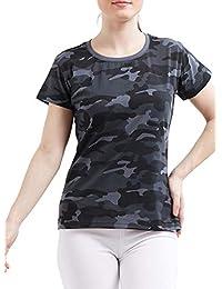 Delhitraderss Women's Military Army Print Regular Fit Top CODE-BS20C(Size-L)