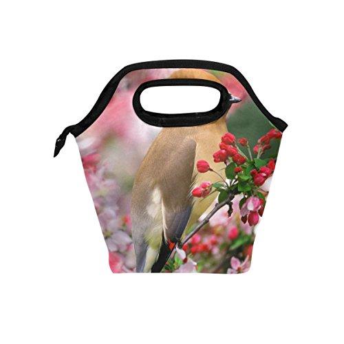 tizorax Winter Weihnachten KARDINAL Blumenmuster Isolierte Lunch-Tasche Outdoor Reise Picknick Tragetasche Lunch Handtaschen Tote für Damen Herren Kinder -
