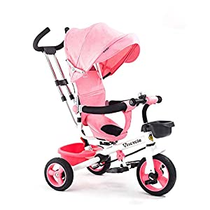 Tricycle Stroller, Tricycle with Push Handle, 3 in 1 Push and Ride Stroller Trike Bike with Storage Bin for Kids, Toddler, Birthday Gifts for 1-6Years Old zhaoyun   7