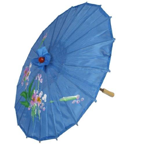 Newsbenessere.com 41mzQEqrQoL Da Sposa Complementi D'arredo Pittura Del Fiore Motivo Ombrello Parasole Blu 55.9cm