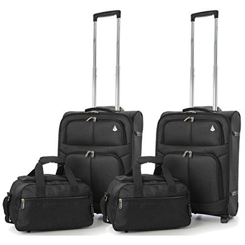 603b4657e Aerolite 55x40x20 Tamaño Máximo de Ryanair y Vueling Trolley Maleta Equipaje  de mano cabina ligera con