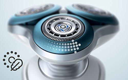 Philips S7780/64   Afeitadora electrica  uso en seco y humedo  incluye smartclean  barbero  cepillo cara y funda de viaje