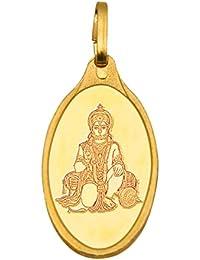 Kundan Hanuman 24k(999.9) Yellow 2.7 gm Gold Pendant