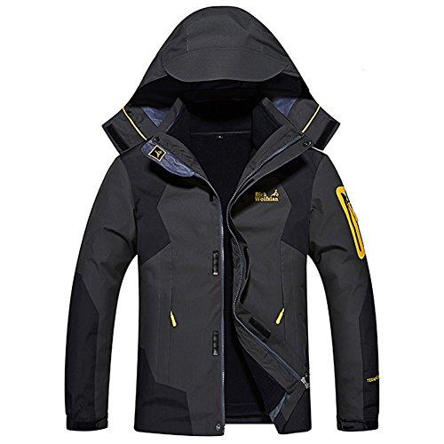 Herren Jacke 3 in 1 Funktionsjacke Outdoor Winterjacke Wanderjacke Wasserdicht Atmungsaktiv Softshelljacke