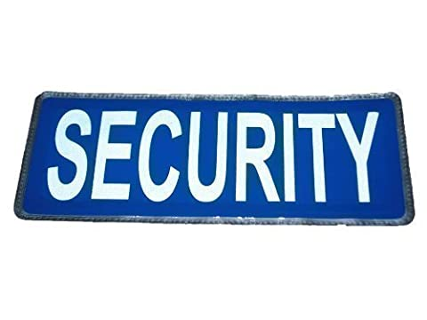 Blue SECURITY Reflective Badge (Large) FREE DELIVERY