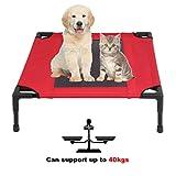 Homgrace Cama para Mascotas elevada y aireada para Perros y Gatos (M: 76 * 61 * 18cm, Capacidad de Carga: 40kg)