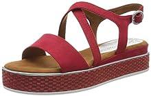 MARCO TOZZI 2-2-28740-24, Sandali con Cinturino alla Caviglia Donna, Rosso (Red Comb 597), 37 EU